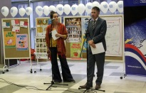 g. Glen Morison, prvi sekretar i konzul Ambasade Australije i Mina Aleksić iz NVO ''Prostor''