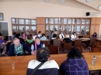 Sastanak na kome su učestvovali zaposleni u bolnici u Vršcu, saradnici i članovi udruženja ''Duševna oaza'', predstavnici Caritasa Srbije i predstavnici udružennja ''Herc'' i ''Duša'' iz Beograda