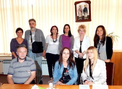 Zaposleni u bolnici u Vršcu, saradnici i članovi udruženja ''Duševna oaza'', predstavnici Caritasa Srbije i predstavnici udružennja ''Herc'' i ''Duša'' iz Beograda